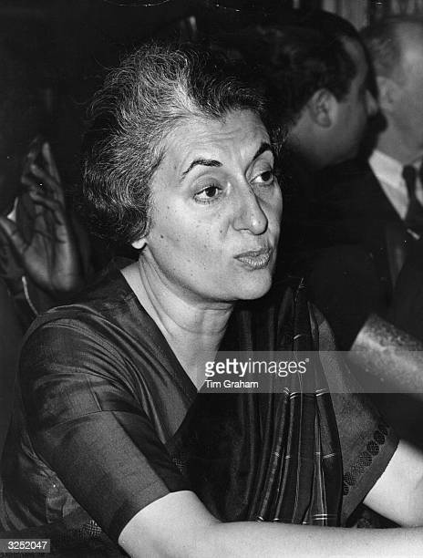 Indira Gandhi prime minister of India at the Commonwealth Prime Ministers' Conference at Marlborough House London