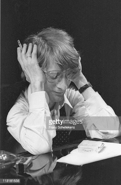 7th JANUARY: Leo Cuypers posed at the piano at the BIMhuis in Amsterdam, Netherlands on 7th January 1986.