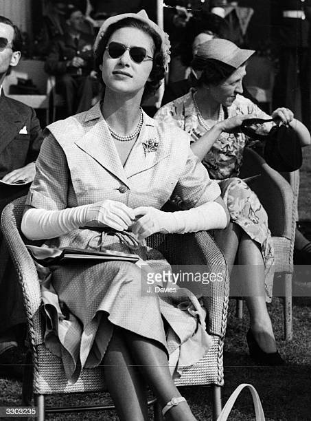 Princess Margaret Rose the daughter of King George VI and Queen Elizabeth at the RAF Air Display at Farnborough Hampshire The King and Queen also...
