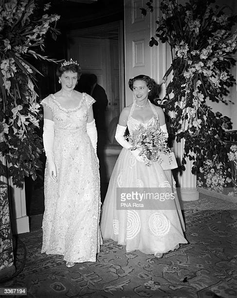 Princess Margaret attends a ball at Hurlingham in London in aid of the ExServices Welfare Fund To her left is Lady Trustram Eve chair of the ball...