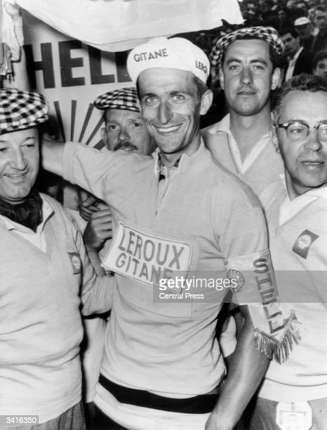 British cyclist Tommy Simpson wearing the Tour de France race leader's yellow jersey He is the first Briton in the 49year history of the race to don...