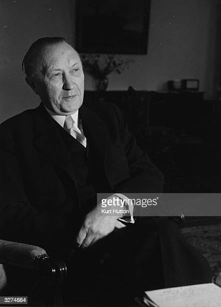 Konrad Adenauer German politician and first Chancellor of the Federal Republic of Germany. Original Publication: Picture Post - 4886 - Architect Of A...