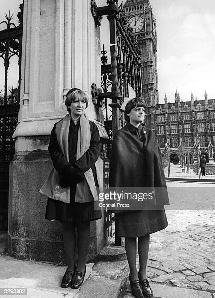 Nurses Mary McGowan and Claire Harris in a silent vigil outside the House of Commons London Their action is in support of increased pay and over 122...