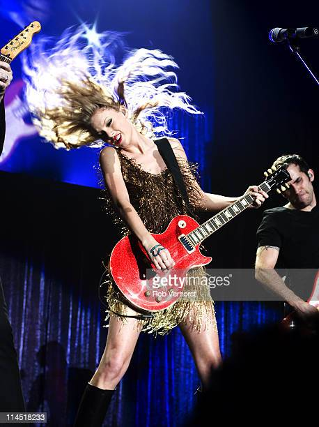 7th MARCH: American country singer Taylor Swift performs live on stage at Ahoy in Rotterdam, Netherlands during her Speak Now World Tour on 7th March...