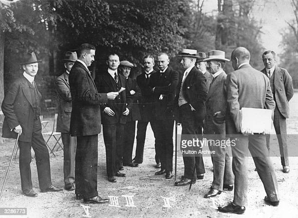 The German delegates at Versailles for the signing of the Peace Treaty This group includes Stockhammen General Hans von Seeckt Hardt Daniels and...