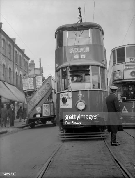 A 'new' metropolitan tram at Cricklewood London