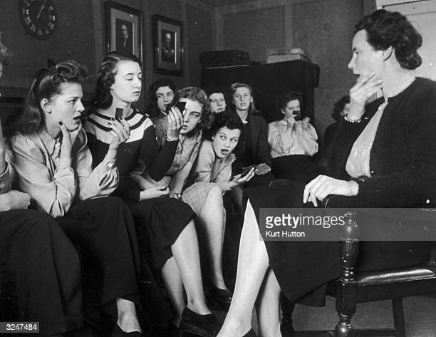Iris Warren takes a voice projection class at the Royal Academy of Dramatic Arts RADA Original Publication Picture Post 1475 A Girl Sets Out To Be A...