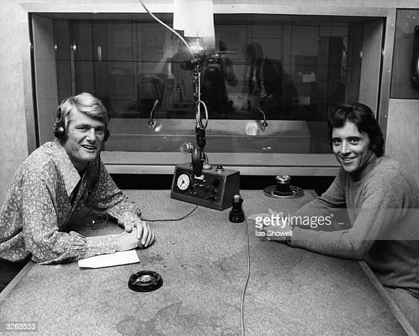 BBC Radio 2 discjockey Pete Murray with popular French singer Sacha Distel