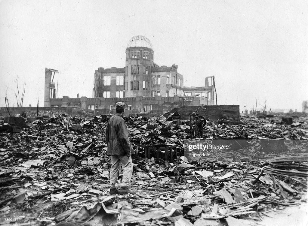 Genbaku Dome In Ruins Of Hiroshima : News Photo