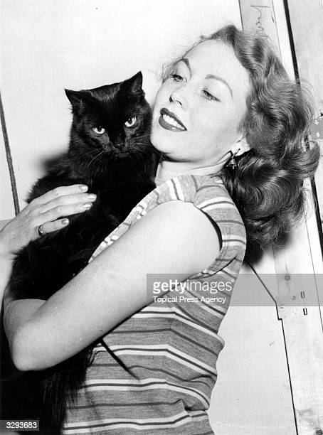 Hazel Court the red haired British leading lady