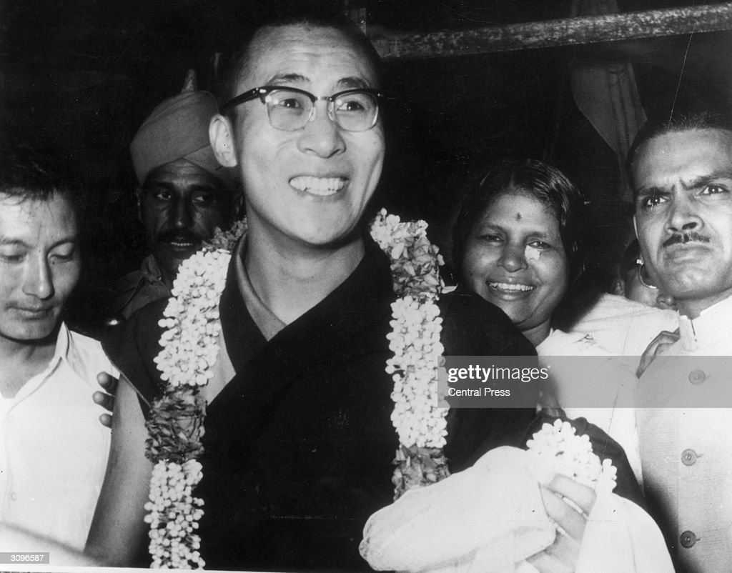 The 14th Dalai Lama, Tenzin Gyatso, spiritual and temporal ruler of Tibet, arrives in Delhi, on his first visit to the Indian capital since he sought asylum.