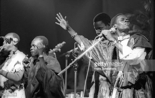 7th SEPTEMBER: Senegalese singer Baaba Maal performs live on stage at Melkweg in Amsterdam, Netherlands on 7th September 1986.