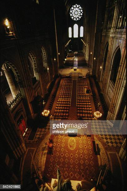 800th Anniversary of the French medieval Cathedral of Our Lady of Chartres a Latin Rite Catholic High Gothic style cathedral located in Chartres