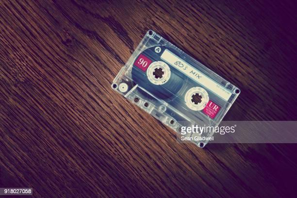 80s cassette on desk