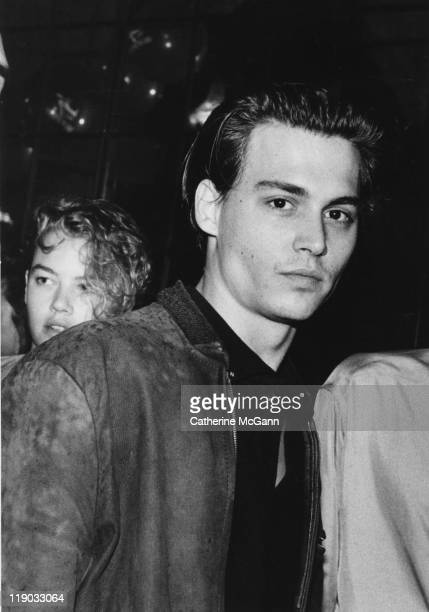 Johnny Depp at an event in the late 1980s in New York City New York