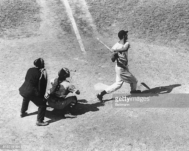 8/11/1941Boston MA Showing no signs of any letup in his leagueleading batting spree Terrific Ted Williams who protects his 410 batting average the...