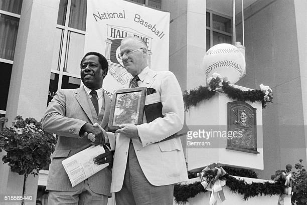 8/1/1982Cooperstown NY Hank Aaron who has hit more home runs than any other player was inducted into the Baseball Hall of Fame 8/1 Baseball...