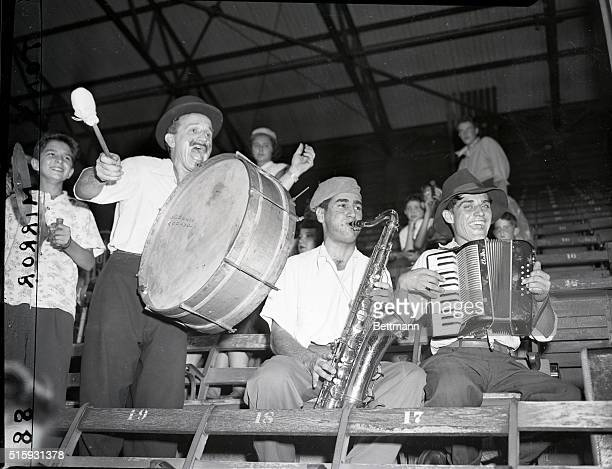 New York, NY: Brooklyn Dodgers music depreciation Day at Ebbets Field. Where Musicians with instuments get in free.