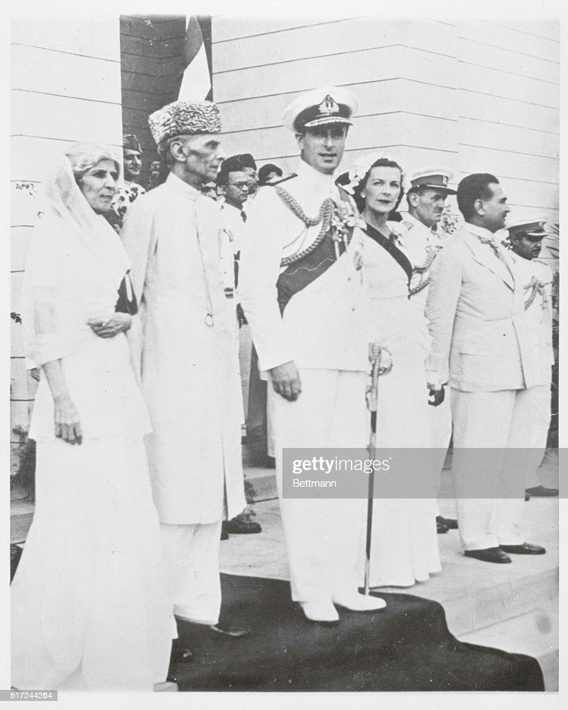 Lord Mountbatten and Pakistani Leader : News Photo