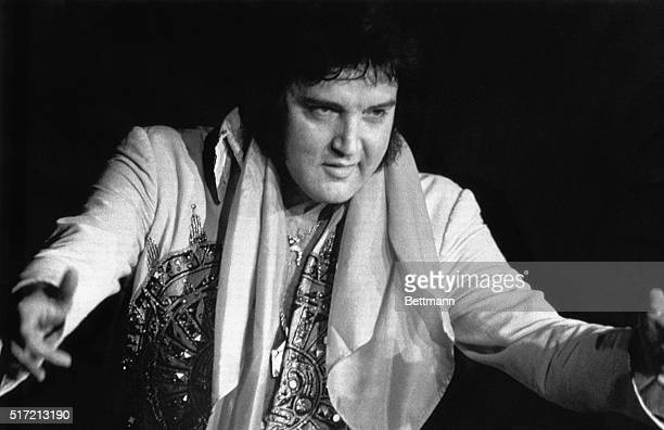 Elvis Presley died 8/16 in Memphis TN of repiratory failure at Baptist Hospital Presley the gyrating hipswinging King of Rock and Roll is shown...