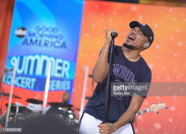 AMERICA 8/16/19Chance the Rapper performs live from Central Park as part of the GMA Summer Concert Series on Good Morning America Friday August 16...