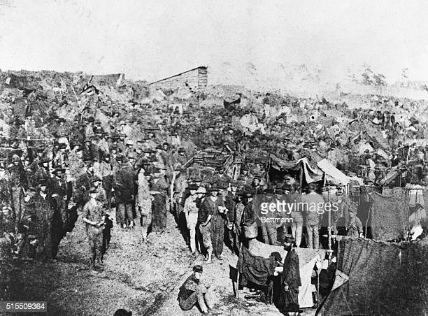 8/17/1864Andersonville Prison GA Photo of rations being issued to Union prisoners at Andersonville Prison in Georgia