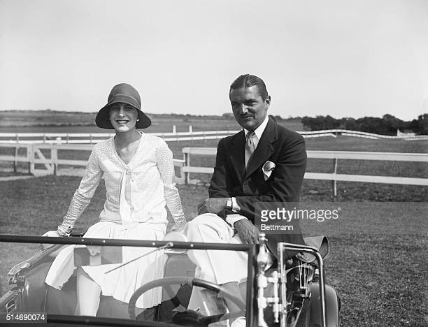 8/17/1929East Hampton LI NY Mr and mrs J Vernon Bouvier 3d enjoying a convinient view of the fifth annual show of the Easthampton Riding Club from...