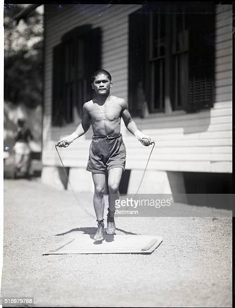 8/18/1923SaratogaPancho Villa the flyweight champion has established training quarters in which to prepare for some future bouts He is shown skipping...