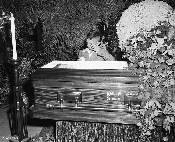 8/18/1948New York NY Frank Haggerty the freckled faced 10 years old who represented Babe Ruth at brother Gilbert's funeral in Lowell last October...