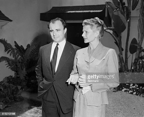 8/18/1952Hollywood CA Aly Khan and Rita Hayworth arminarm it during a Hollywood press conference today The handsome Muslim and the flamehaired screen...