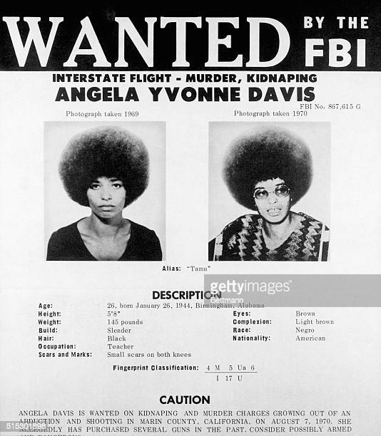 8/19/1970Washington DC Angela Yvonne Davis a self admitted communist has been added to the FBI's list of 'Ten Most Wanted Fugitives' The FBI issued...