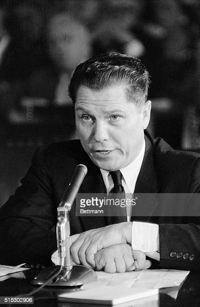 Washington, DC- Teamster Vice-President James R. Hoffa testified before the Senate Labor Rackets Committee today that his wife shared a seven-year...