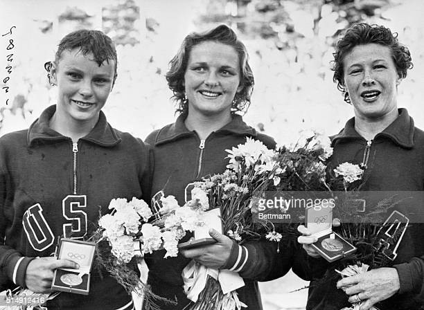 8/2/1952Helsinki Finland Pat McCormick of the US who also won the springboard diving event recently today won the final of the high diving with a...