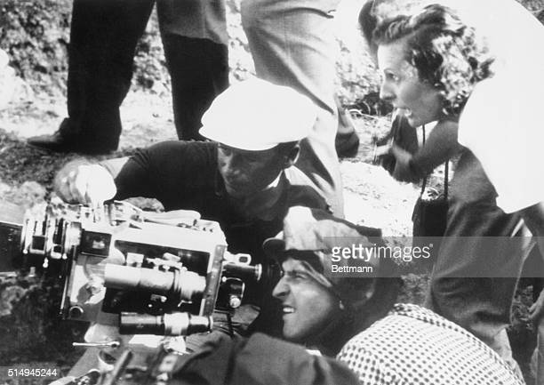 8/22/1936Olympia Greece Leni Riefenstahl Adolf Hitler's favorite actress and film director who directs the films of the Nazi Congress at Nuremberg is...