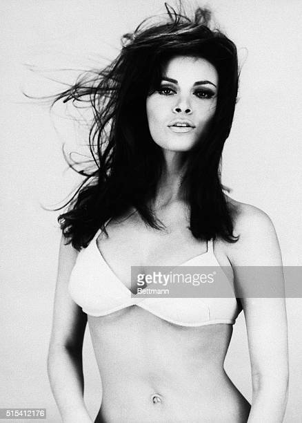 "Rome, Italy-ORIGINAL CAPTION READS: America's latest entry into the ""Sex Goddess"" sweepstakes is Raquel Welch, whose long brunette hair and..."