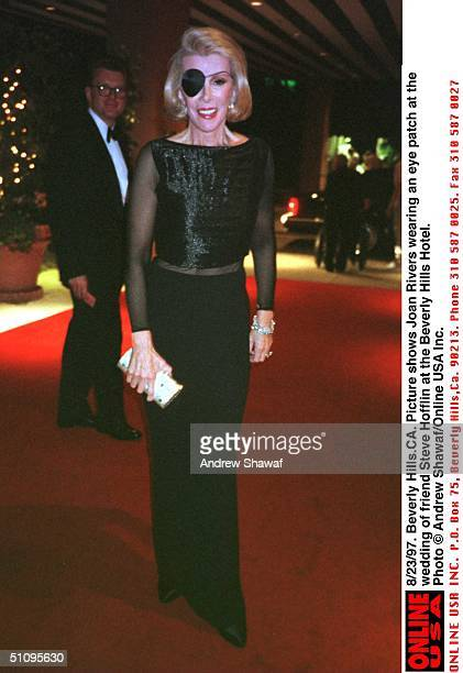 Beverly HillsCa Picture Shows Joan Rivers Wearing An Eye Patch At The Wedding Of Friend Steve Hofflin At The Beverly Hills Hotel