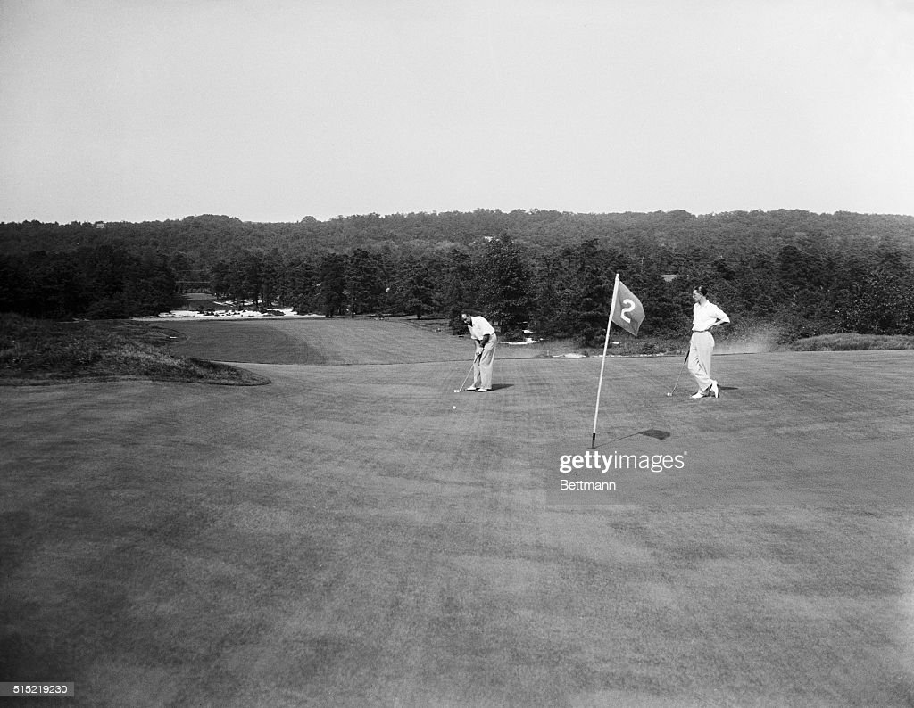 Pine Valley, NJ-View of the No. 2 green in the foreground ...