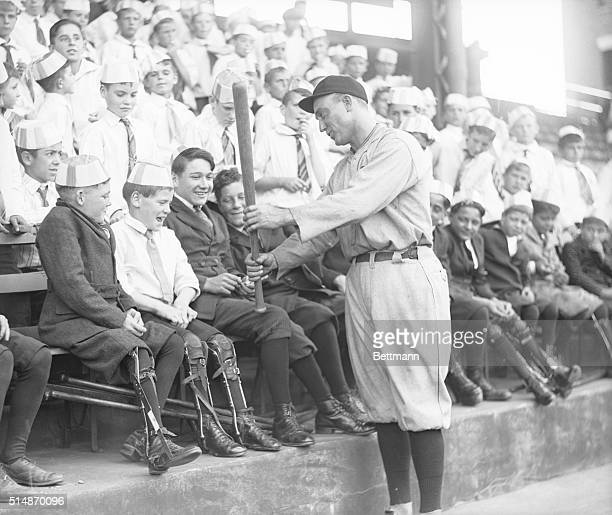Philadelphia, PA:THE THRILL OF A LIFETIME... That was exactly what 2500 or more youngsters enjoyed in Shibe Park, Philadelphia when, as guests of the...