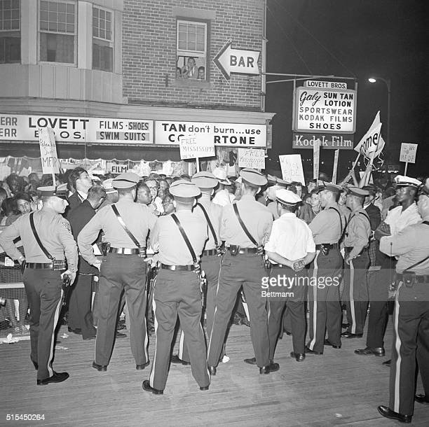 8/25/1964Atlantic City New Jersey New Jersey State Police put up a blockade to keep out members of the Mississippi Freedom Democratic Party from...