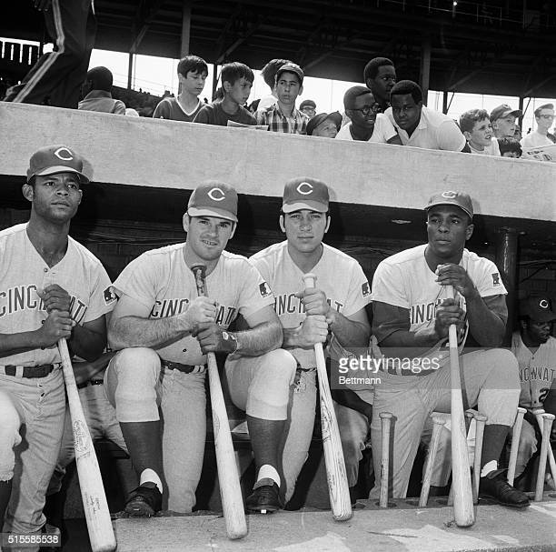 Four members of the Cincinnati Reds who are among the top ten hitters in the National League got together for the camera 8/25 before taking on the...
