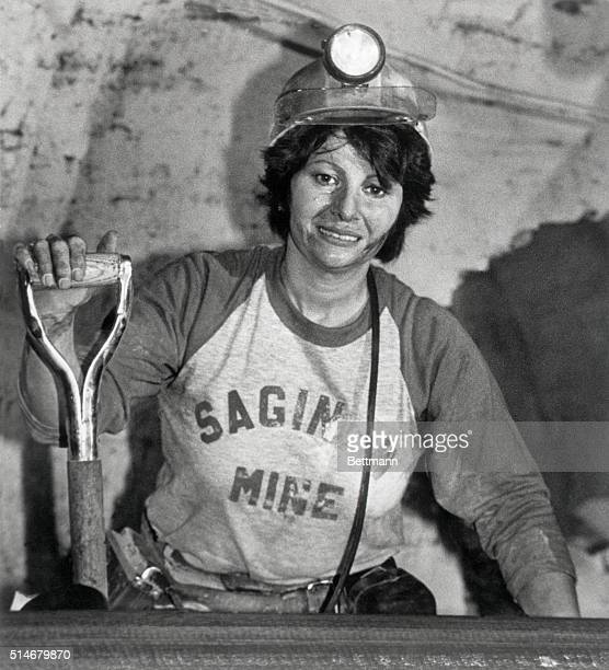 8/25/81St Clairsville Ohio Linda Sabo only woman miner at the Saginaw mine at St Clairsville mans a beltline in the mine recently