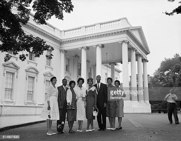 8/26/1958Washington DC Seven of the nine Negro students who attended Little Rock's Central High School under protection of Army Paratroopers last...