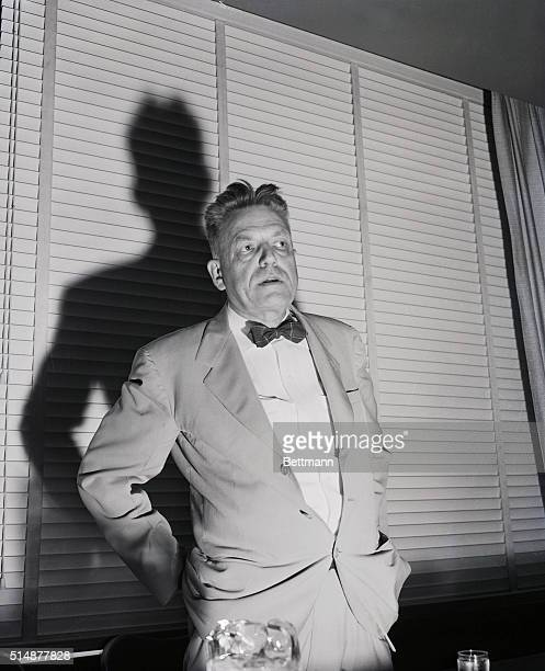 8/27/1953Los Angeles CA Dr Alfred Kinsey during his first press conference since the publication of reviews of his controversial new book Sexual...