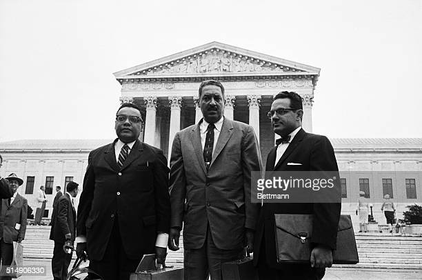8/28/1958Washington DC Attorneys for the NAACP are shown Left to right William T Coleman Jr New York Thurgood Marshall Chief Counsel and Wiley A...