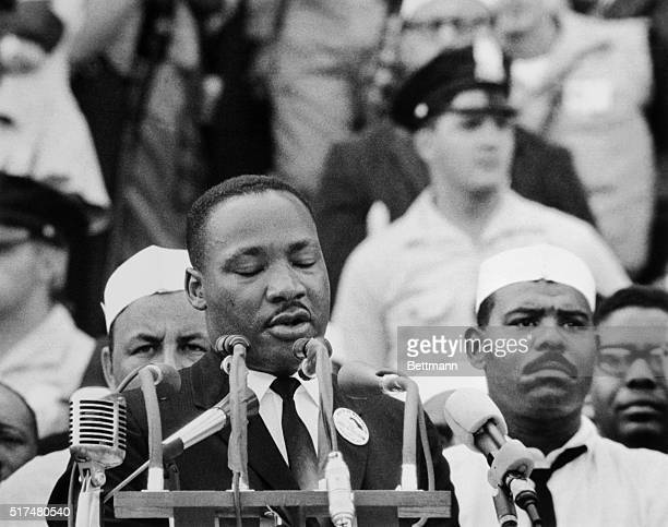 Martin Luther King Jr delivers his 'I Have a Dream' speech at the March on Washington demonstration
