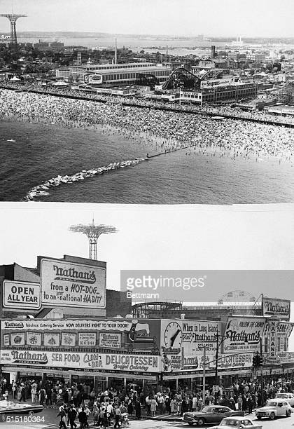 8/28/1966Brooklyn NY For most of its 137plus years as a resort Coney Island has been synonymous with surf sand sociability sensation sex silliness...