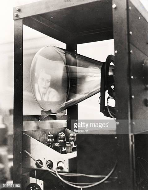 8/28/34Pennsylvania PA Photo shows a picture of Joan Crawford as it appeared on the cathode tube after being televised by an adjoining room over...