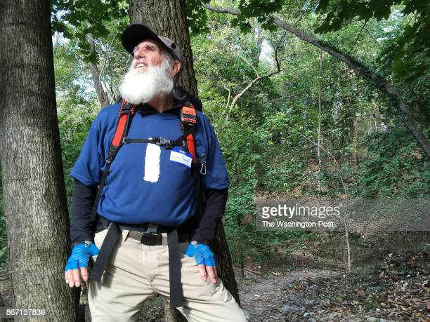 82yearold Dale Grey Beard Sanders became the oldest person to ever hike all 2190 miles of the Appalachian Trail within a year Sanders poses along the...