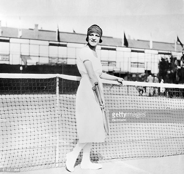 Antwert,Germany- Mlle. Suzanne Lenglen, famous French woman tennis star who retained her title as the World's Champion Woman Player in the singles of...