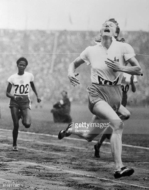 London, England- One of the sensations of the Olympiad is the Dutch mother and wife, blonde Fanny Blankers-Koen, who has been worth her weight of...